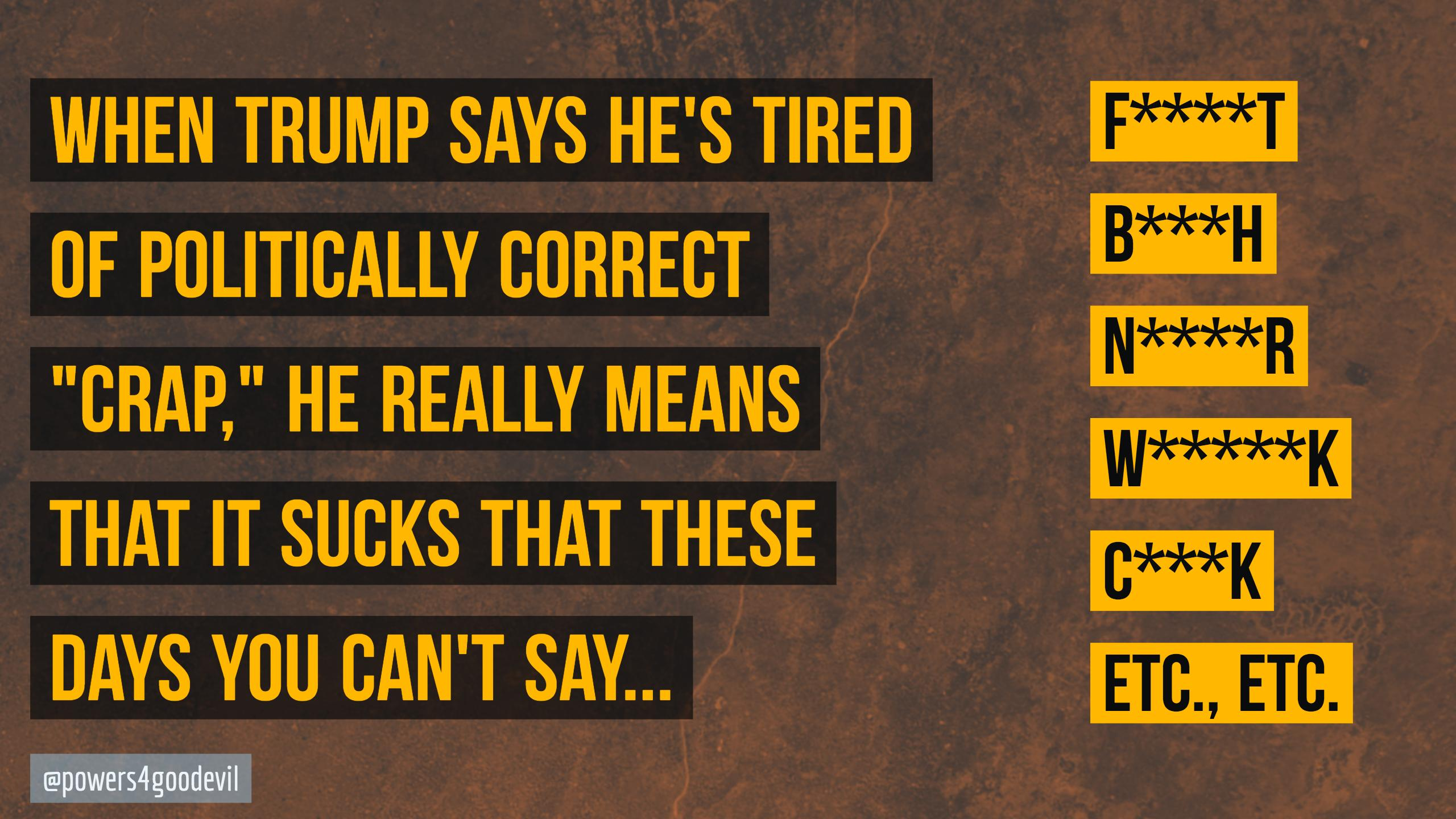 Trump Politically Correct